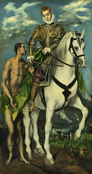 St. Martin and the Beggar, by El Greco. Courtesy Wikimedia Commons.