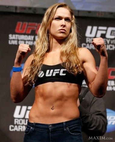 "UFC Women's Bantamweight champ Ronda ""Rowdy"" Rousey, courtesy rondamm.com."