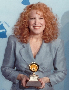 Bette Middler backstage at the 1990 Grammy Awards. Photo by Alan Light.