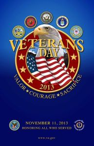 Official Veterans Day 2013 poster, courtesy Wikipedia.