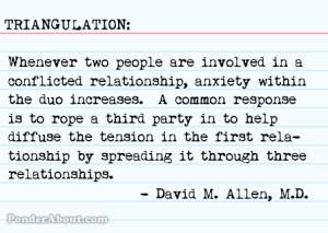 Triangulation defined, courtesy PonderAbout.com.