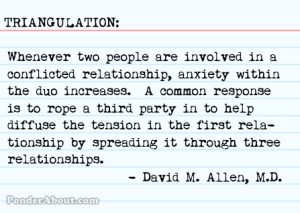 Triangulation defined, courtesy PonderAbout.com.