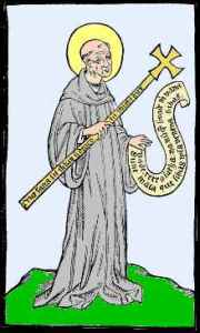 15th century image of St. Benedict of Nursia. Courtesy WIkipedia.