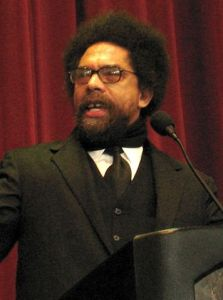 Cornel West in 2008, by Esther. Courtesy Flickr/Wikimedia Commons.