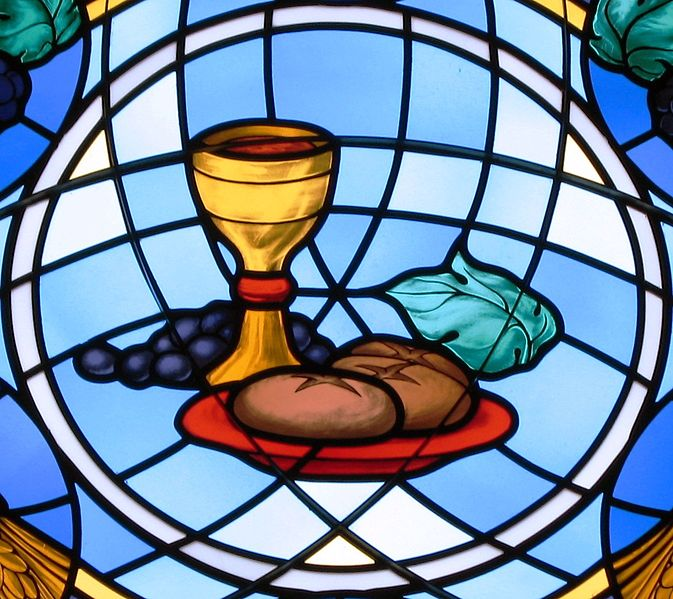 an analysis of the eucharist jesus ritual meal sign symbols history communion church In the case of holy communion, which is also known as the eucharist meal or mass, christian worshippers believe that they receive the body and the blood of jesus christ, through the act of eating the bread, which symbolises christ's body, and by drinking the wine, said to be his blo.