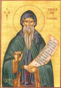 Icon of John Cassian, courtesy wikimedia commons.