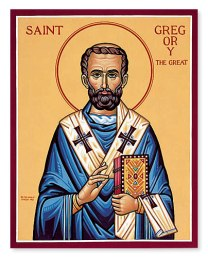 Icon of Gregory the Great, from monasteryicons.com.