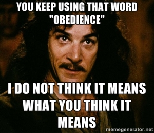 obedience meme