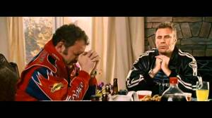 Cal Naughton Jr. and Ricky Bobby praying in Talladega Nights.